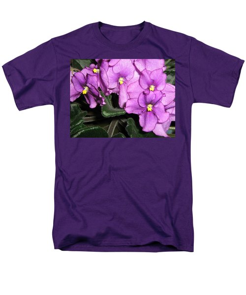 African Violets Men's T-Shirt  (Regular Fit) by Barbara Yearty