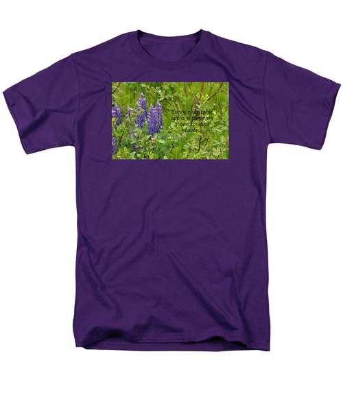Men's T-Shirt  (Regular Fit) featuring the photograph Alaskan Lupine Heaven by Diane E Berry