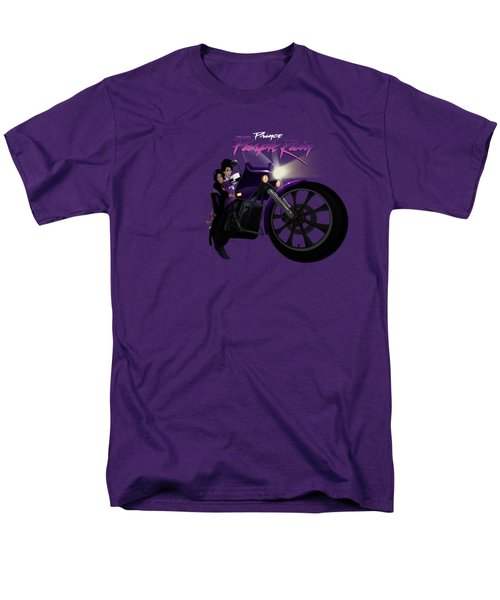 Men's T-Shirt  (Regular Fit) featuring the digital art I Grew Up With Purplerain by Nelson dedos Garcia