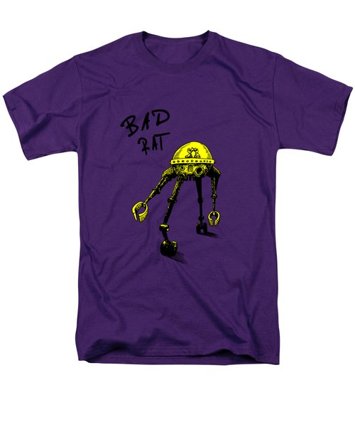 Men's T-Shirt  (Regular Fit) featuring the drawing Bad Rat In Retro Yellow by Kim Gauge