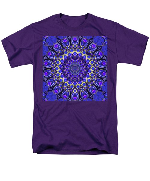 Men's T-Shirt  (Regular Fit) featuring the digital art Bella - Purple by Wendy J St Christopher