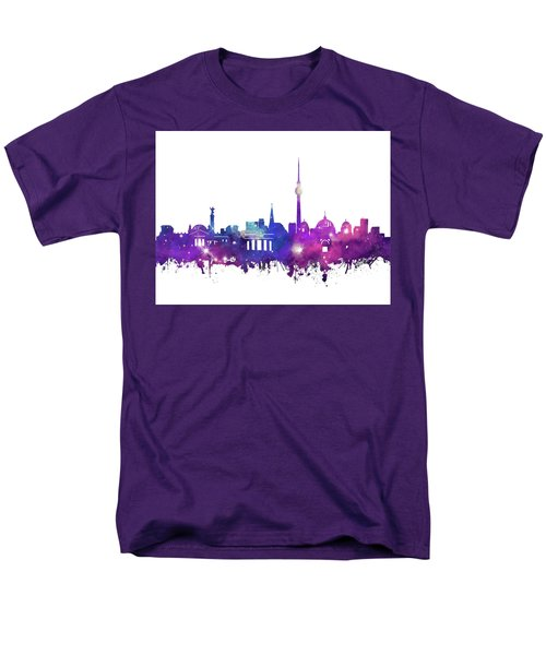 Berlin City Skyline Galaxy Men's T-Shirt  (Regular Fit) by Bekim Art