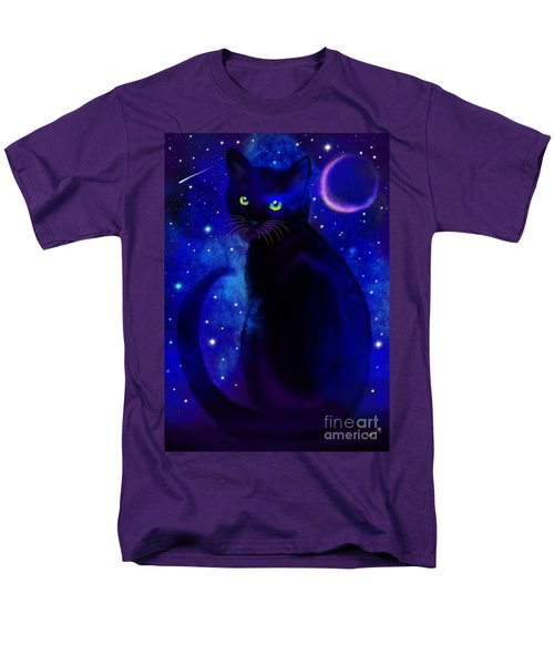 Men's T-Shirt  (Regular Fit) featuring the painting Black Cat Blues  by Nick Gustafson