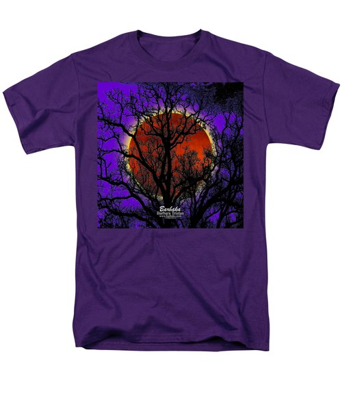 Blood Moon Trees Men's T-Shirt  (Regular Fit) by Barbara Tristan