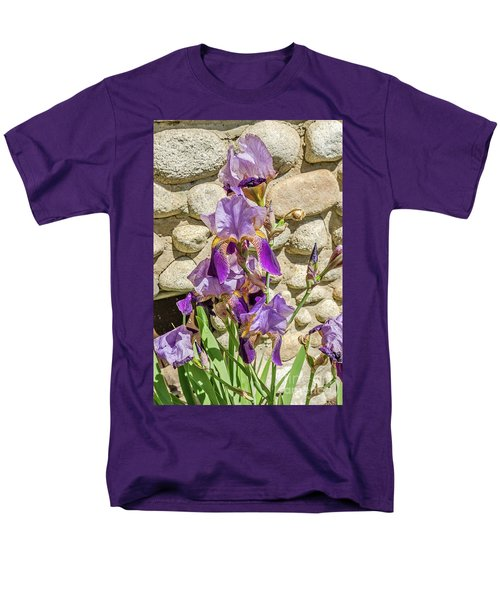 Blooming Purple Iris Men's T-Shirt  (Regular Fit) by Sue Smith