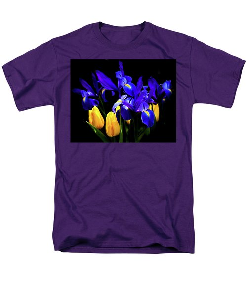 Blue Iris Waltz By Karen Wiles Men's T-Shirt  (Regular Fit) by Karen Wiles