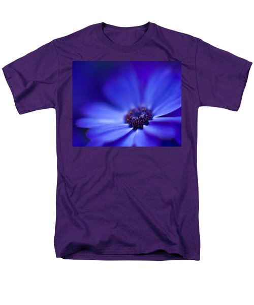 Blue Men's T-Shirt  (Regular Fit) by Mike Reid