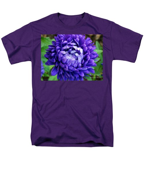 Men's T-Shirt  (Regular Fit) featuring the photograph Blue Petals by Gena Weiser
