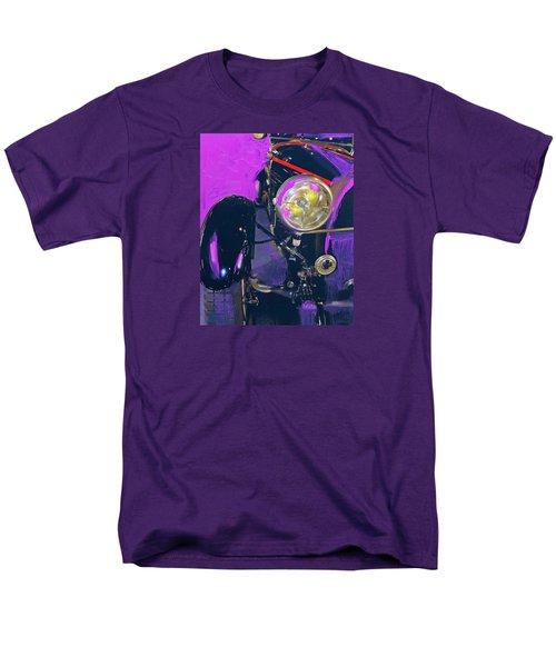 Bugatti Abstract Purple Men's T-Shirt  (Regular Fit)