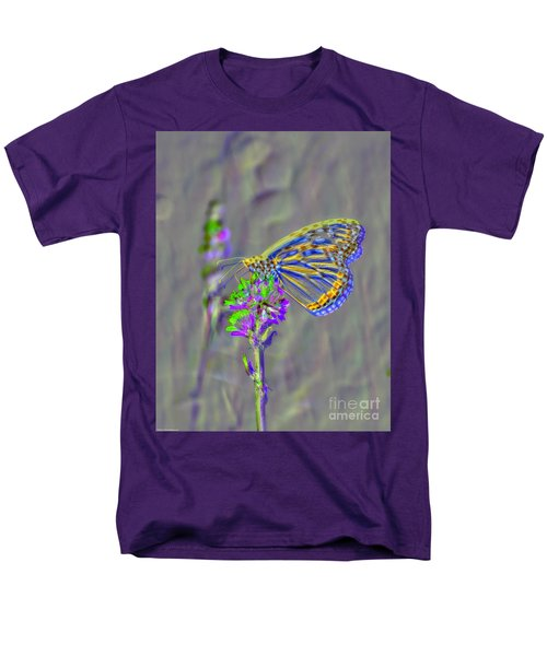 Men's T-Shirt  (Regular Fit) featuring the photograph Butterfly Study by Mitch Shindelbower