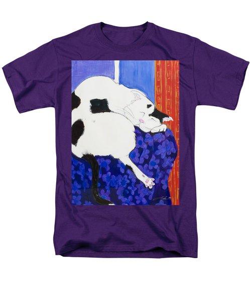 Cat IIi Peaceful   Men's T-Shirt  (Regular Fit) by Leela Payne