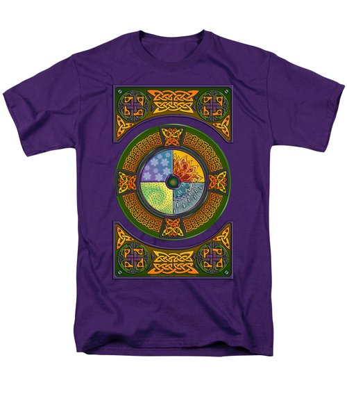 Men's T-Shirt  (Regular Fit) featuring the mixed media Celtic Elements by Kristen Fox