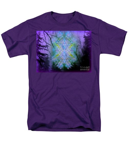 Men's T-Shirt  (Regular Fit) featuring the digital art Chalice-tree Spirit In The Forest V1a by Christopher Pringer