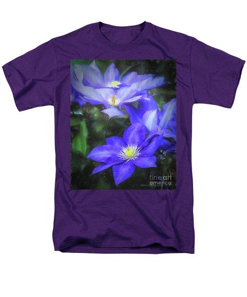 Clematis Men's T-Shirt  (Regular Fit) by Linda Blair