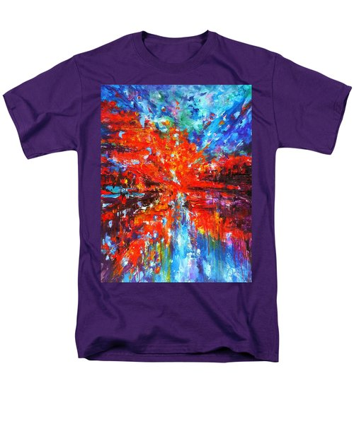 Composition # 2. Series Abstract Sunsets Men's T-Shirt  (Regular Fit) by Helen Kagan