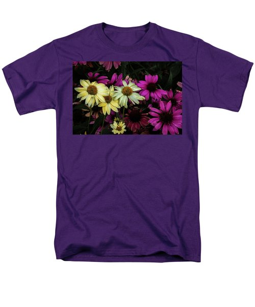 Men's T-Shirt  (Regular Fit) featuring the photograph Coneflowers by Jay Stockhaus
