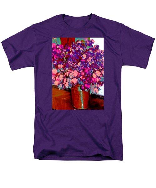 Men's T-Shirt  (Regular Fit) featuring the photograph Copper Vase Floral by M Diane Bonaparte
