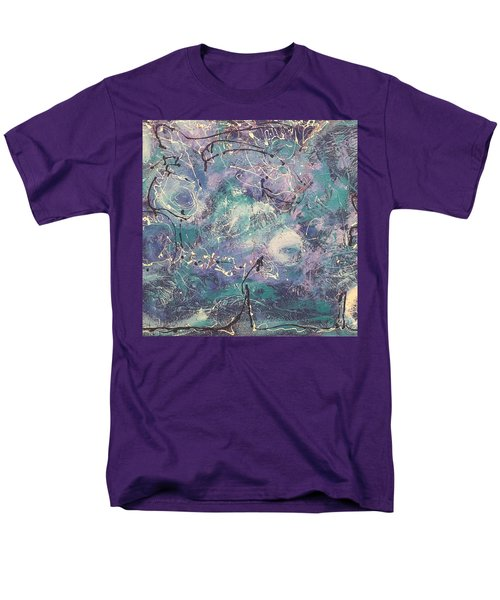 Cosmic Abstract Men's T-Shirt  (Regular Fit) by Gallery Messina