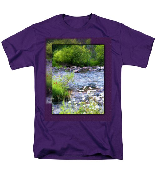 Men's T-Shirt  (Regular Fit) featuring the photograph Creek Daisys by Susan Kinney