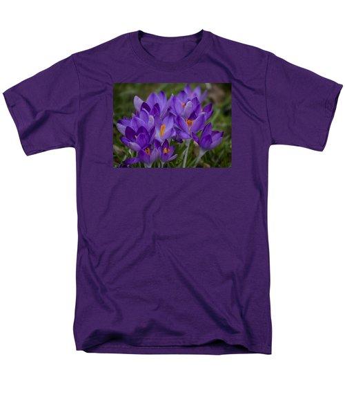 Crocus Cluster Men's T-Shirt  (Regular Fit) by Shirley Mitchell