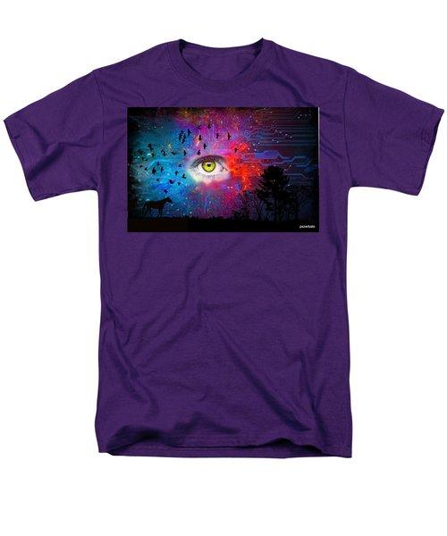 Cyber Nature Men's T-Shirt  (Regular Fit) by Paulo Zerbato