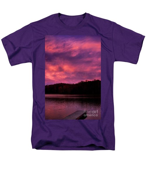 Men's T-Shirt  (Regular Fit) featuring the photograph Dawn At The Dock by Thomas R Fletcher