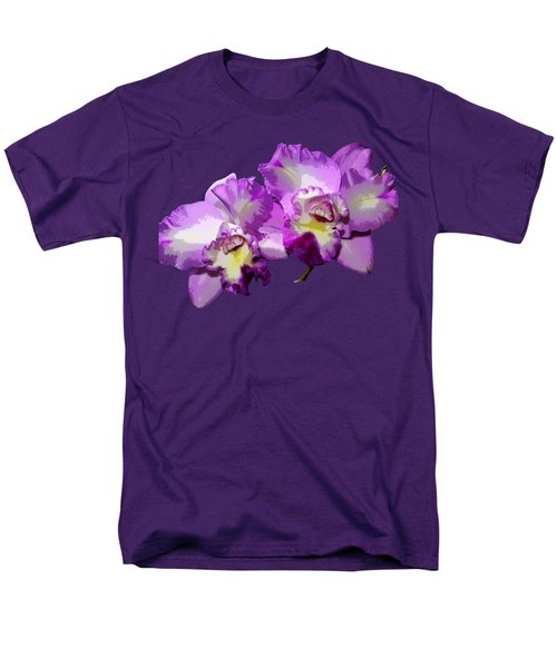 Delicate Purple Orchids Men's T-Shirt  (Regular Fit) by Phyllis Denton