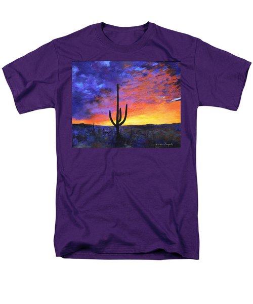 Men's T-Shirt  (Regular Fit) featuring the painting Desert Sunset 4 by M Diane Bonaparte