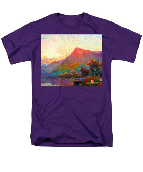 Men's T-Shirt  (Regular Fit) featuring the painting  Buddha Meditation, Divine Light by Jane Small