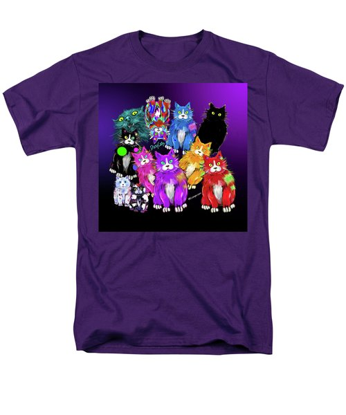Men's T-Shirt  (Regular Fit) featuring the painting Dizzycats by DC Langer