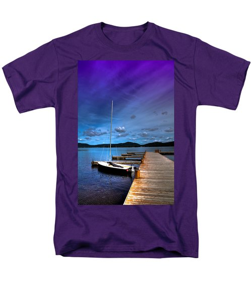 Docked On Fourth Lake Men's T-Shirt  (Regular Fit) by David Patterson