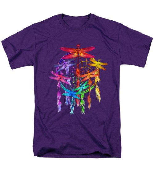 Men's T-Shirt  (Regular Fit) featuring the mixed media Dragonfly Dreams by Carol Cavalaris