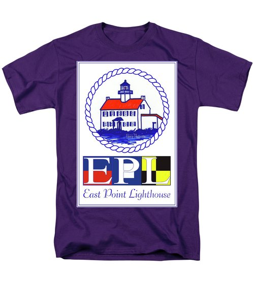 East Point Lighthouse Poster - 2 Men's T-Shirt  (Regular Fit) by Nancy Patterson