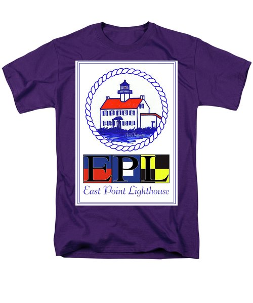 Men's T-Shirt  (Regular Fit) featuring the digital art East Point Lighthouse Poster by Nancy Patterson