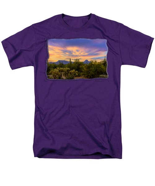 Easter Sunset H18 Men's T-Shirt  (Regular Fit) by Mark Myhaver