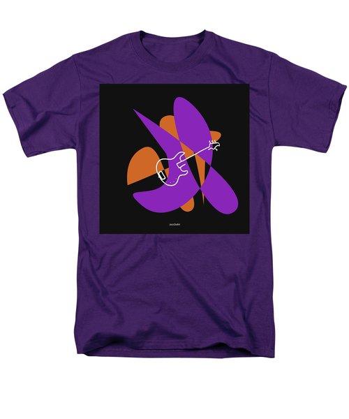 Electric Bass In Purple Men's T-Shirt  (Regular Fit) by David Bridburg