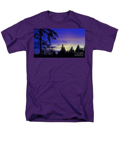 Men's T-Shirt  (Regular Fit) featuring the photograph Evening Blue by Victor K