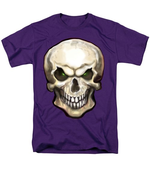 Evil Skull Men's T-Shirt  (Regular Fit) by Kevin Middleton