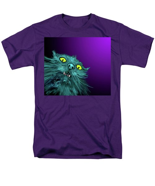 Men's T-Shirt  (Regular Fit) featuring the painting Fang Dizzycat by DC Langer
