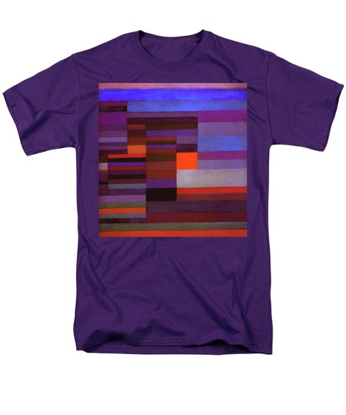 Fire In The Evening Men's T-Shirt  (Regular Fit) by Paul Klee