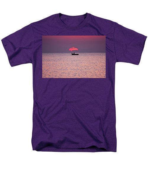 Men's T-Shirt  (Regular Fit) featuring the photograph Fisherman by Bruno Spagnolo