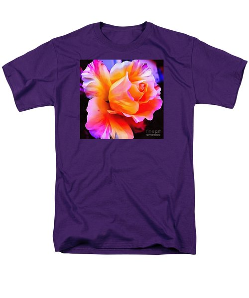 Floral Interior Design Thick Paint Men's T-Shirt  (Regular Fit) by Catherine Lott