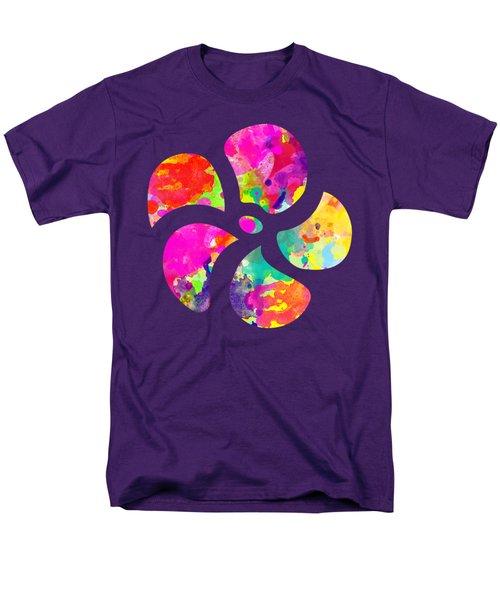 Flower Power 1 - Tee Shirt Design Men's T-Shirt  (Regular Fit) by Debbie Portwood