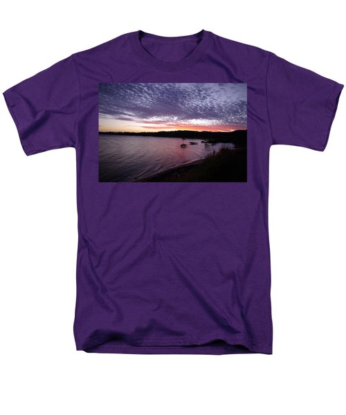 Men's T-Shirt  (Regular Fit) featuring the photograph Four Elements Sunset Sequence 6 Coconuts Qld  by Kerryn Madsen-Pietsch