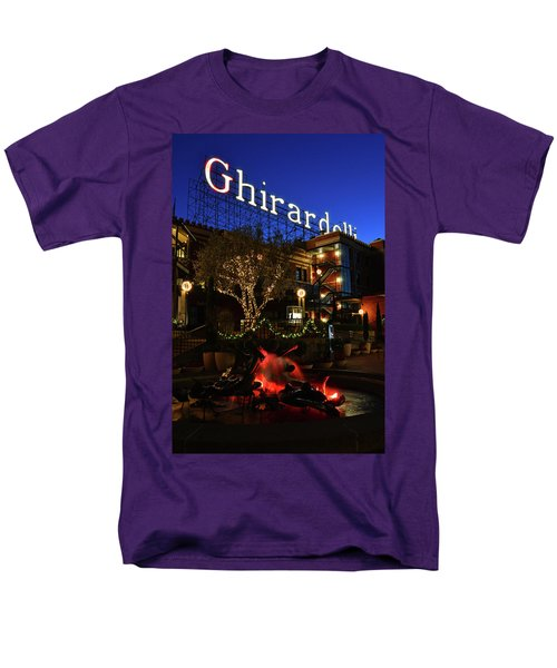Ghirardelli Square Men's T-Shirt  (Regular Fit) by James Kirkikis