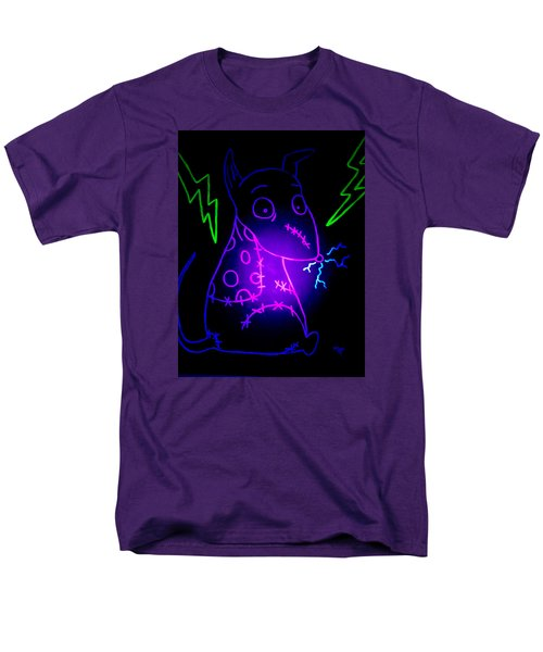 Glow Frankenweenie Sparky Men's T-Shirt  (Regular Fit) by Marisela Mungia
