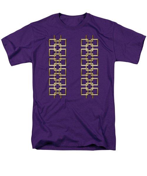 Men's T-Shirt  (Regular Fit) featuring the digital art Gold Geo 5 - Chuck Staley Design by Chuck Staley