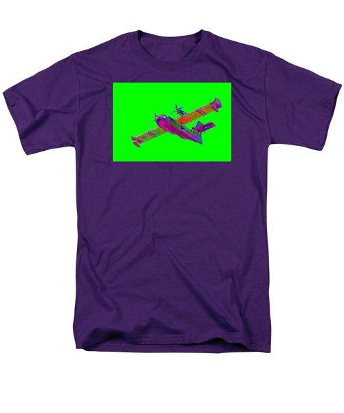 Green Fire Flight  Men's T-Shirt  (Regular Fit) by Richard Patmore