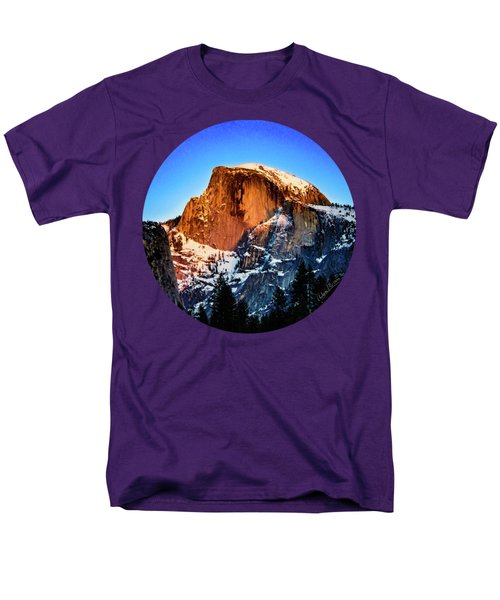 Half Dome Aglow Men's T-Shirt  (Regular Fit) by Adam Morsa