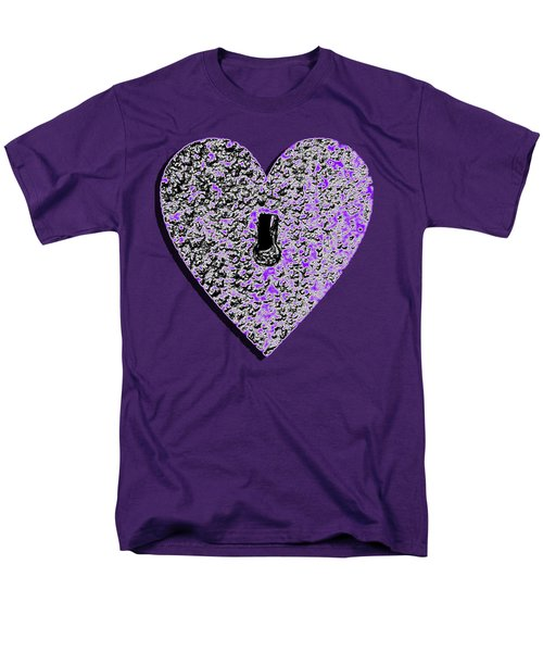 Heart Shaped Lock Purple .png Men's T-Shirt  (Regular Fit) by Al Powell Photography USA